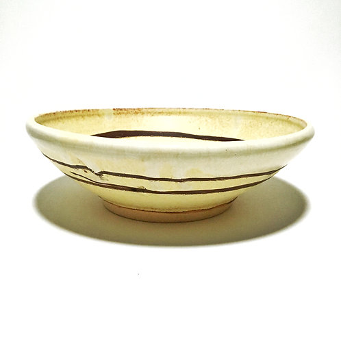 Yellow Salt Serving Bowl