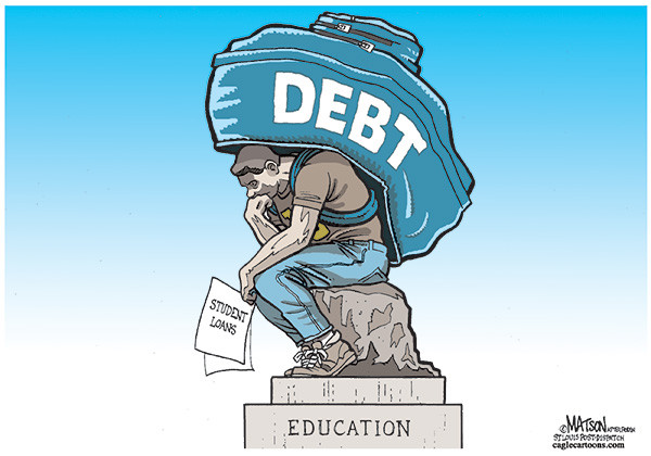 Student loan debt can really weigh on your shoulders.