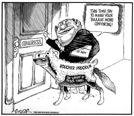 Vouchers are wolves in sheeps clothing