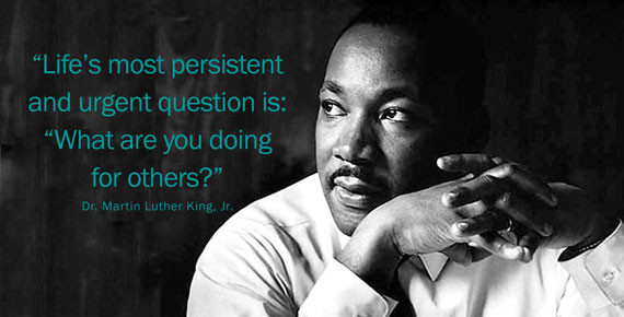 King quote regarding the urgency of helping others
