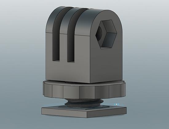 Locking GoPro Hot shoe mount