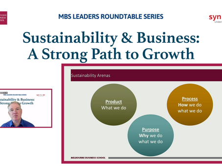 """MBS LEADERS VIRTUAL ROUNDTABLE SERIES A """"Sustainability & Bisnis: Strong Path To Go"""""""