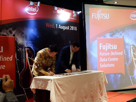 Fujitsu Indonesia : Partnership Launching with Intel (2019)