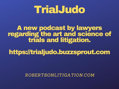 Announcement of TrialJudo Podcast
