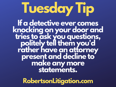 Tuesday Tip (May 11, 2021) - Don't Talk!