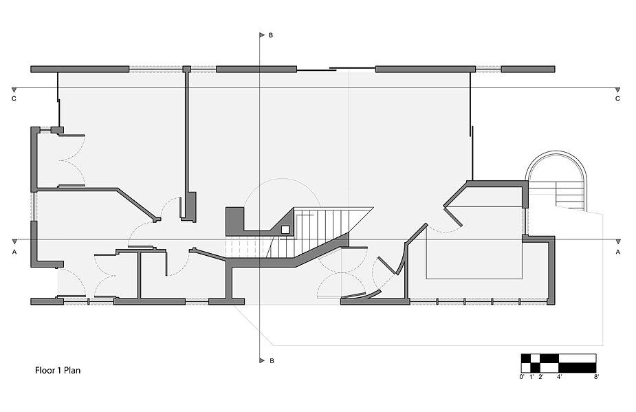 Vanna Venturi House Plan Section Elevation on fisher house elevation, vanna venturi interior, kaufmann house elevation, eames house elevation, vanna venturi sections dimensions, tugendhat house elevation,