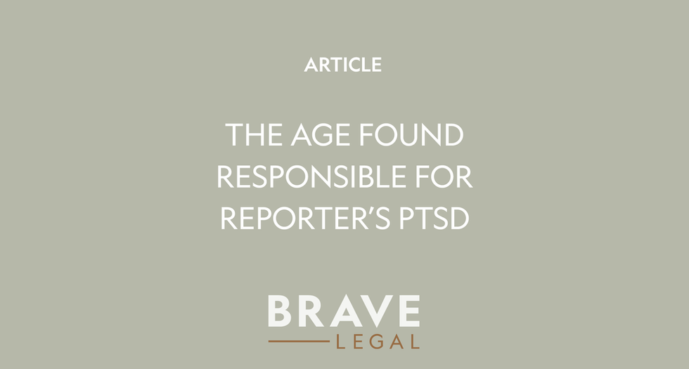 Newspaper found responsible for psychological injuries