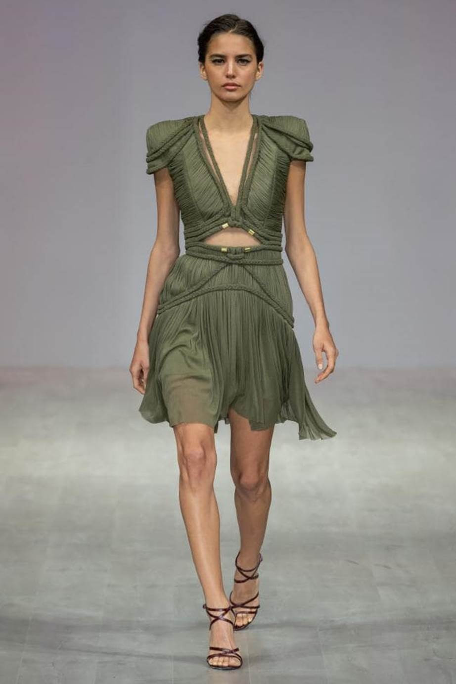 Army Green Dress Runway