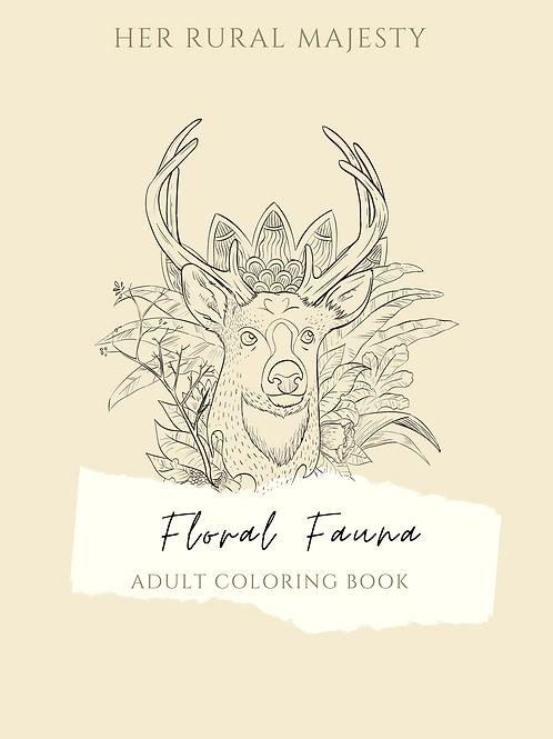 Flora Fauna Printable Coloring Book
