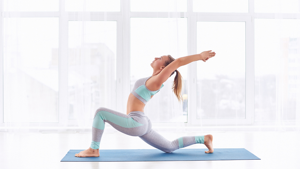 Woman in Yoga Crescent Lunge