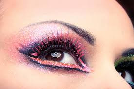 Pink Eye shadow and Liner