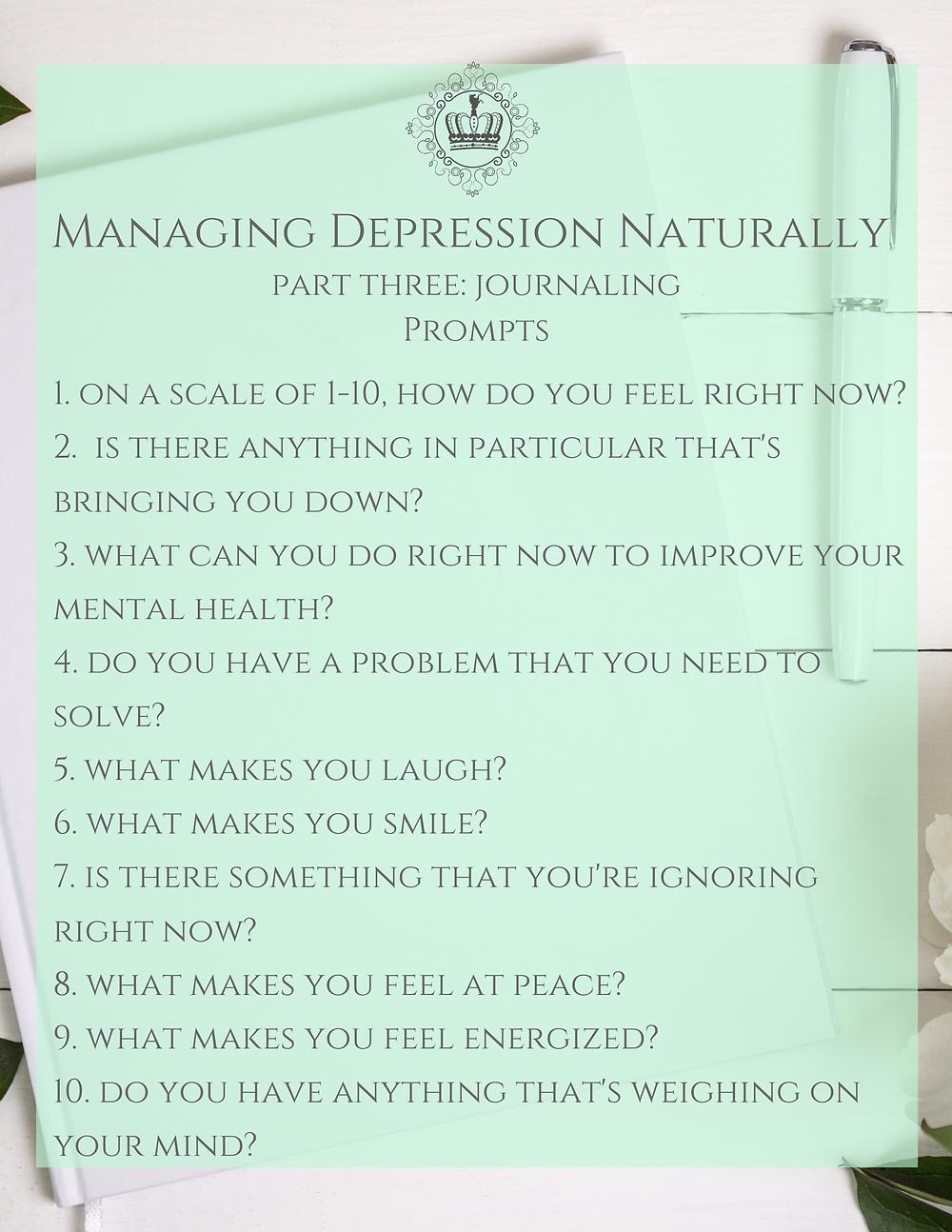 Journal Prompts For Depression