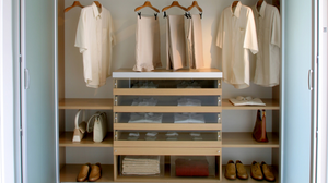 Organized His and Hers Closet