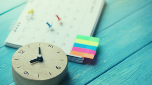 Planner with Clock