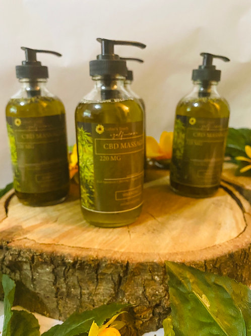 220 MG Herbal Infused Massage Oil