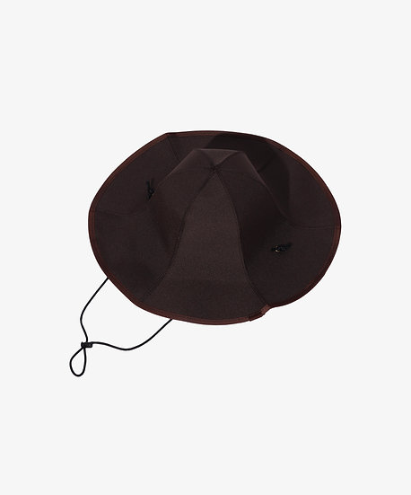 BROWN FOLDABLE PANEL HAT