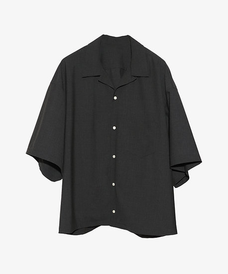ESSENTIAL OVERSHIRT SHORT SLEEVE ANTHRACITE