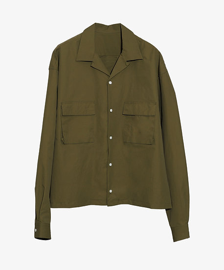 PACKABLE OVERSHIRT OLIVE