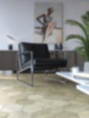 Hexagon Parquet Floor Hexie | Modern flooring ideas | Hexagonal parquet flooring