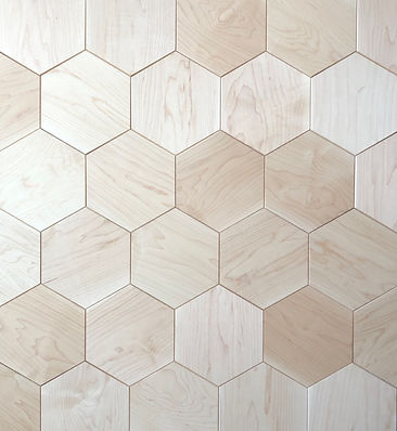 Curonians Hexagon parquet HEXIE Maple Wood | Decorative Art Flooring for modern Art Nouveau interior