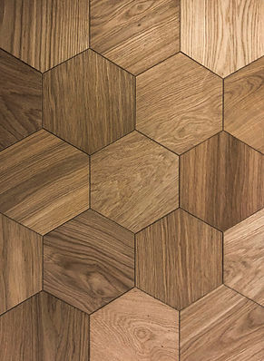 Curonians Hexagon parquet HEXIE Oak Selected | Decorative Art Flooring for modern Art Nouveau interior