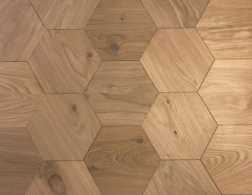 Hexagon Parquet Floor Hexie | Modern flooring ideas | Hexagonal parquet flooring
