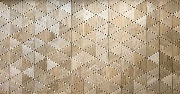 Curonians Decorative Wall Panel Triangle Oak | Decorative Art Flooring for modern Art Nouveau interior