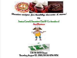 Join our Lead Poisoning Prevention Program: Delicious Healthy Desserts  Demonstration