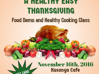 Thanksgiving Food Demo and LLP!