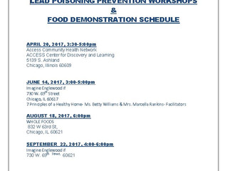 LEAD POISONING PREVENTION WORKSHOPS & FOOD DEMONSTRATION