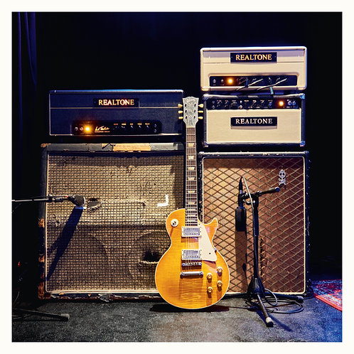 "HENRIK FREISCHLADER Poster ""Amps & Guitar"""