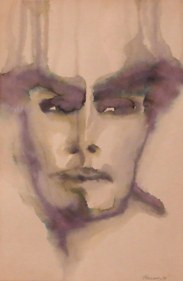 Hamlet 1 (1986), aquarelle  collection privée