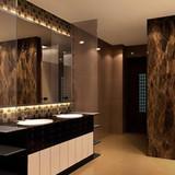PVC Marble Public Restroom design
