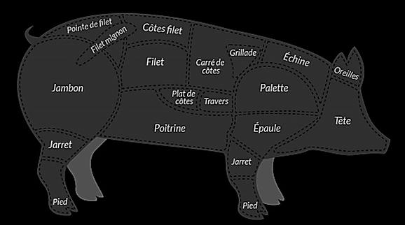 Chêne noir porc noir gascon