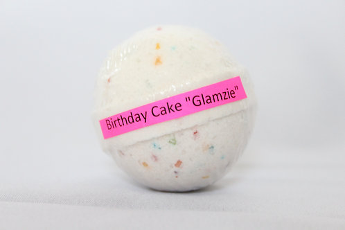 #Glamzie Birthday Cake Bath Bombs