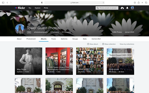 A screenshot of the Tower Guard Flickr page