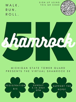 A poster for the Shamrock 5k