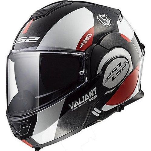 LS2 FF399 Valiant 180� Flip Avant White/Black/Red