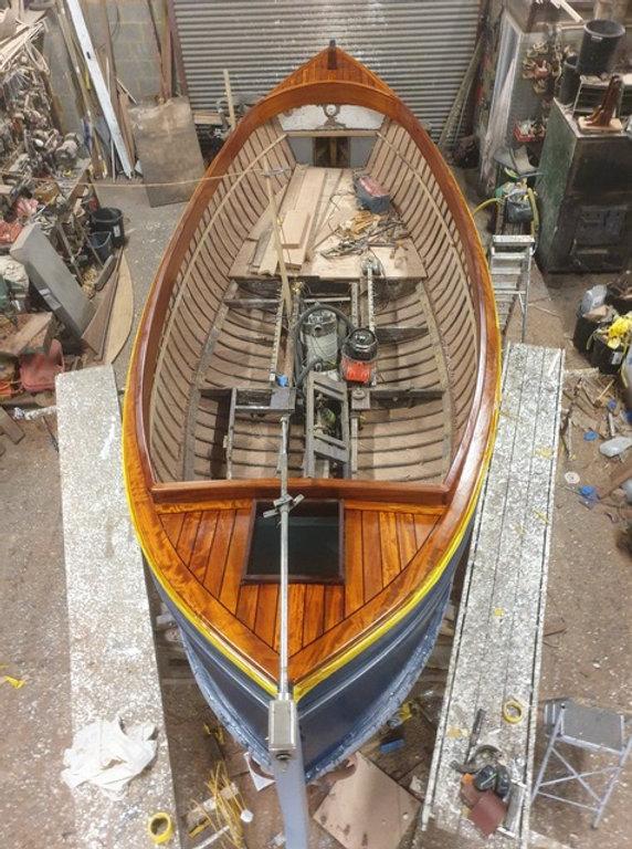 1st Coat of Varnish on Jolly Britt Feb 1