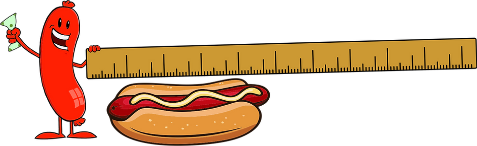 Sausage Man with Yardstick-Money-Hot Dog