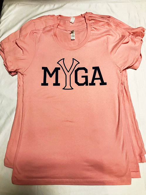 Ladies Pink MYGA shirt