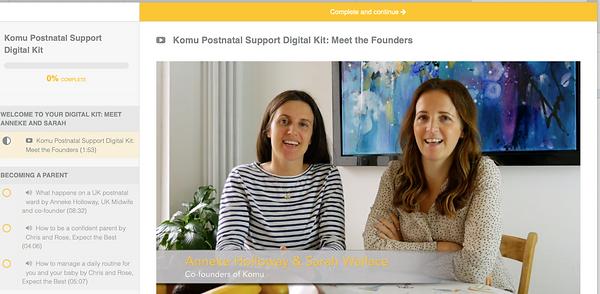 Komu Postnatal Digital Kit screen shot_e