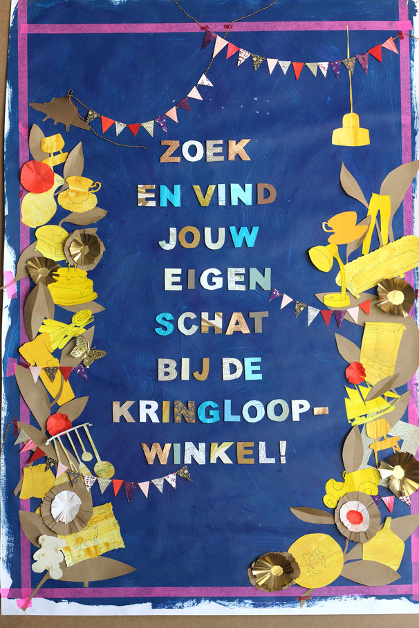 Original illustration for Nationale Kringloopdag 2014