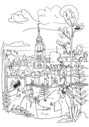 Stedelijk Museum Breda coloring print