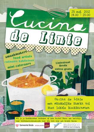 Posterdesign for Cucina de Linie, a local foodmakers market 2013