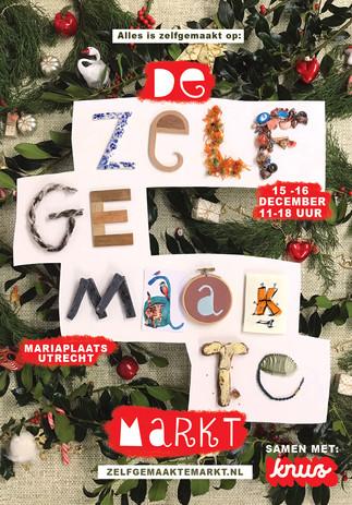 Poster design Zelfgemaakte Kerstmarkt 2018