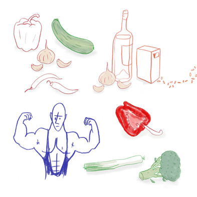 Drawings for cookbook