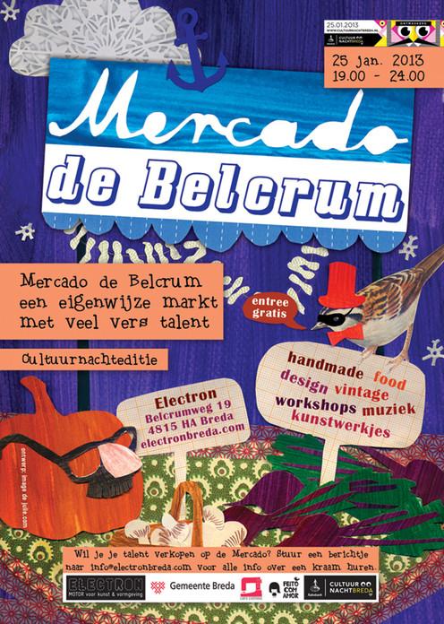 Posterdesign for Mercado de Belcrum, a local crafty market 2012-2016