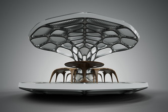 Zaha Hadid Launches a Prefabricated Dining Pavilion at Design Miami... and WOW.
