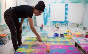 Artist Maya Hayuk Takes Over Fashion House, Max Mara